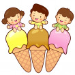 Large Ice Cream Brother and Sister Mascot. Home and Family Chara — Stok Vektör #41542439