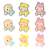 Babies are going forward gear. Home and Family Character Design  — Stock Vector
