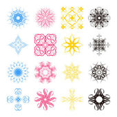 Diverse styles of square back Symbol Sets. Original Pattern and  — Stock Vector