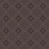 赤茶色の正方形グリッド パターン。韓国の伝統的なパターン設計 — ストックベクタ