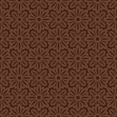 Brown Colors Flower and Plant Pattern Design. Korean traditional — 图库矢量图片