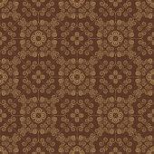 Brown Colors Art Nouveau Style Pattern design. Original Pattern  — Stock Vector