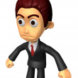 Постер, плакат: 3D Business man Mascot as a gesture of anger Work and Job Chara