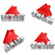 3d home internet icon range four set . 3D Icon Design Series. — Stock Photo #48767945