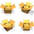 3D Inside a box in the icon file folder. 3D Icon Design Series. — Stock Photo #48768205