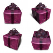 3D purple wrapped gift box set. 3D Icon Design Series. — Stock Photo #48768743
