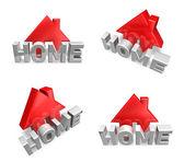 3d home internet icon range four set . 3D Icon Design Series.  — Stock fotografie