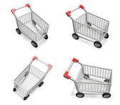 Ícone de carrinho de compras 3d. série de desenho 3d icon. — Fotografia Stock