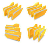 3D Sort documents folder icon. 3D Icon Design Series.   — Stock Photo