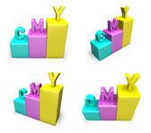 3D CMY graph icon. 3D Icon Design Series.   — Stock fotografie