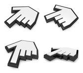 3D Alignment of  hand cursor icon. 3D Icon Design Series.  — Foto Stock