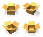 3D Empty box icon. 3D Icon Design Series.   — Stock fotografie