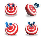 3D Darts icon. 3D Icon Design Series.   — Stock fotografie