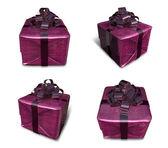 3d lila svept gåva boxen. 3d ikonen design serie. — Stockfoto