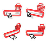 3D Shopping search box and arrow icon. 3D Icon Design Series.  — Stock Photo