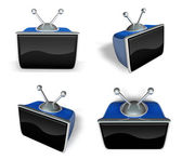 3d televize, ikonu monitoru. 3d ikony designu série. — Stock fotografie
