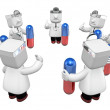 3d doctor men with medicine capsule. 3D Square Man Series. — Stock Photo #49315801