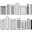 Skyscraper icons — Vector de stock