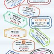 Stockvektor : Passport stamps
