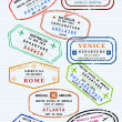 Passport stamps — Stockvectorbeeld
