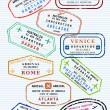 francobolli di passaporto — Vettoriale Stock