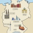 Royalty-Free Stock Vector Image: Germany landmarks