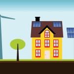 Eco house — Stock Vector