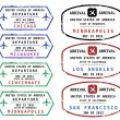 Stockvektor : Travel stamps