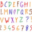 Alphabet set - Stock Vector