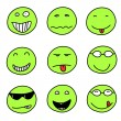 Smiley set — Stock Vector