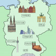 Royalty-Free Stock Vector Image: Map of Germany