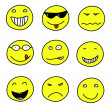 Smiley icons - Stock Vector