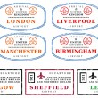 Travel stamps - UK - Stock Vector