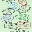 Royalty-Free Stock : Passport stamps