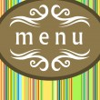 Stock Vector: Menu card