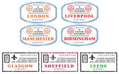 Travel stamps - UK — Stock Vector