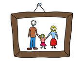 Family memories — Stock Vector