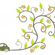 Stock Vector: Ecological car