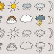 Weather symbols — Stock Vector #21838493