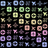 Plane icons — Stock Vector