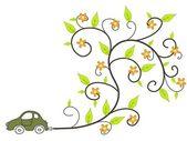 Ecological car — Stock Vector