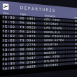 Royalty-Free Stock Photo: Departures