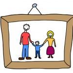 Family photo — Stock Vector