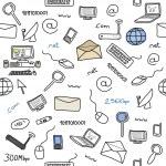 Internet doodle — Stock Vector