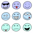 Stock Vector: Emoticons