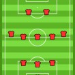 Soccer tactics - Stock Vector