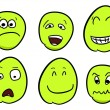 Stock Vector: Cartoon smileys