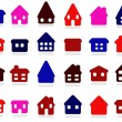 Home icon collection — Stock Vector
