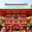 Kobe, Japan - city in the region of Kansai in Hyogo prefecture. Famous gate to Ikuta Shrine. — Stock Photo #29798561
