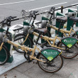 Hiroshima bicycle sharing — Stock Photo